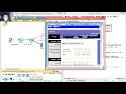 9.2.4.4 - 11.2.4.4 Packet Tracer - Configuring Port Forwarding on a Linksys Router