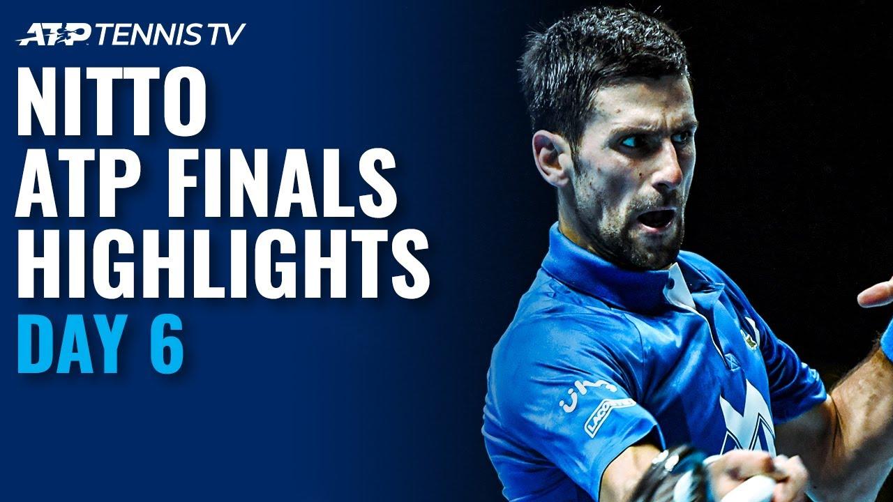 Djokovic v Zverev; Medvedev v Schwartzman   Nitto ATP Finals 2020 Highlights Day 6