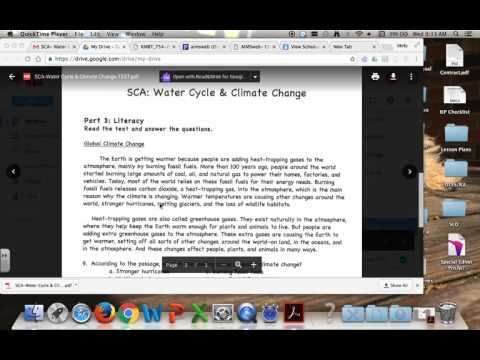 Water Cycle and Climate Change Quiz