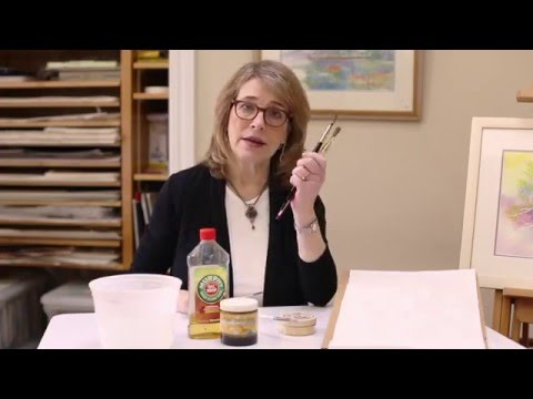 Watercolor 101:  Keeping Your Paint Brushes Clean