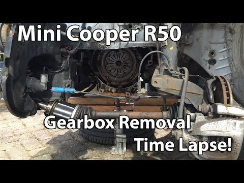 Mini Cooper R50 2002 Gearbox Removal Time Lapse