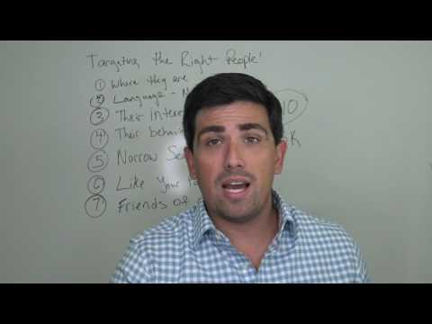 FB Ads Free Training - Video 6: How to Target the Right Audience