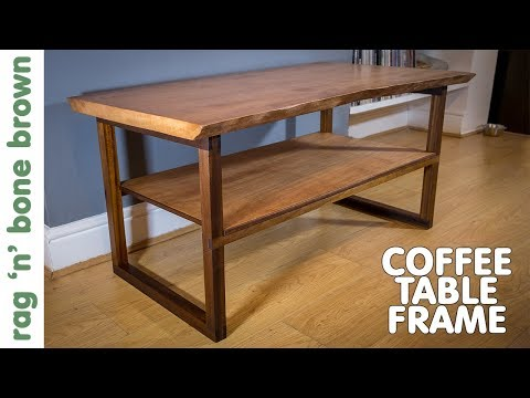 Beech Waney Edge Slab Coffee Table Frame (part 2 of 2)