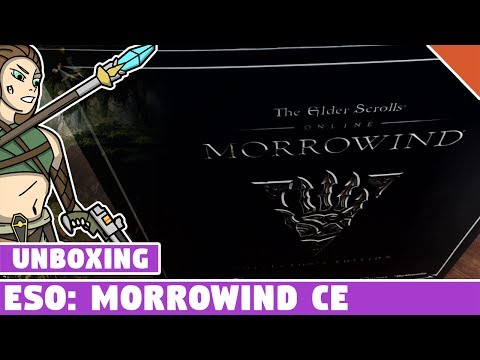 The Elder Scrolls Online Morrowind Collector's Edition Unboxing! ESO