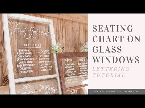 How to Hand-Letter a Glass Seating Chart || DIY & Tutorial