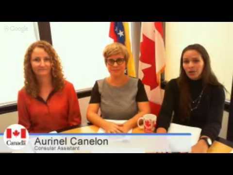 Informative session for Canadian citizens: The process of applying for a passport from Venezuela,...