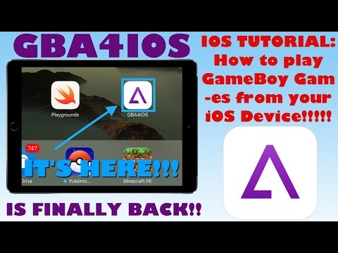 GBA4IOS IS BACK!! | iOS Tutorial: How to download GBA4IOS and play ANY Gameboy game for FREE |iOS 5+