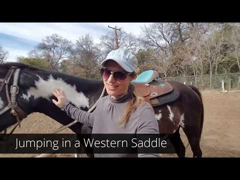 How to start jumping your horse in a Western Saddle