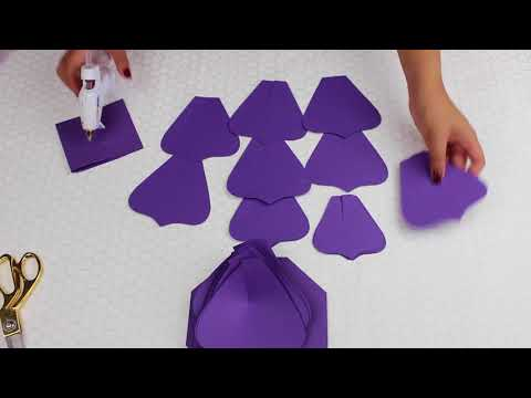 Paper Flower Tutorial using Template #21