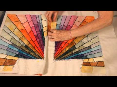 Rays Of Hope Quilts Stain Glass Pt. 4 (Quilting and Joining Sections)