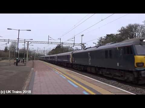 (HD) 92010 working Inverness, Aberdeen and Fort William - London Euston (10th February 2018)