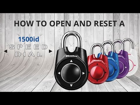 How to Open & Reset a Master Lock 1500iD Speed Dial™ Lock