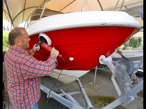 Boating for beginners : How to buff & wax a boat FAST!