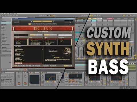 Making a Custom SYNTH BASS Patch w/ Spectrasonics Trilian & Ableton Live Tutorial   TCustomz