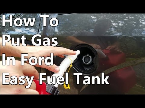 How To Put Gas In Ford Easy Fuel Tank - F150, Focus, Escape, Fusion, Etc.
