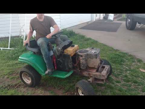 Lawn mower racing - Roopville kid starting a new build