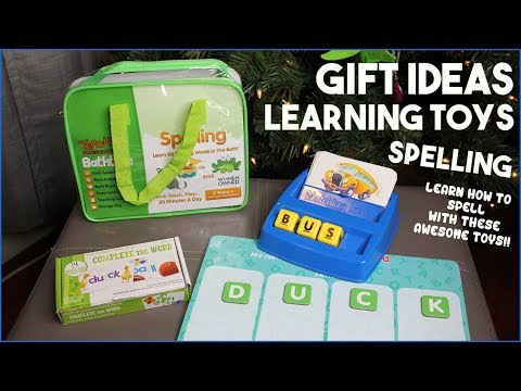 Learning Toys Gift Guide - SPELLING Toy Ideas for Kids