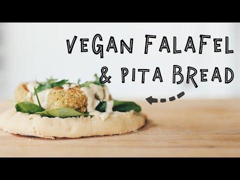 Falafel + Pita Bread//HCLF VEGAN