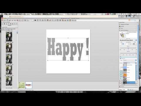 MyMemories V4 - WordArt Designer Tutorial