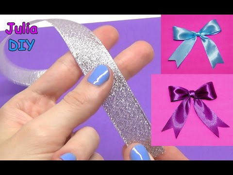 DIY crafts - How to Make Bow / Simple Way to Make ribbon bow / diy decorative bow / Julia DIY
