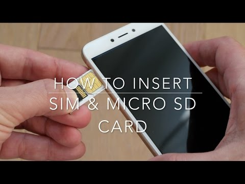 How to insert Sim and micro SD card in a Xiaomi Redmi 4x