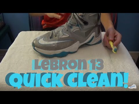 How to Clean Lebron 13s