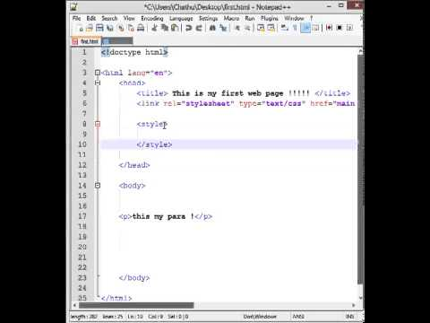 complete instruction about HTML head tag in sinhala. HTML lesson No -05