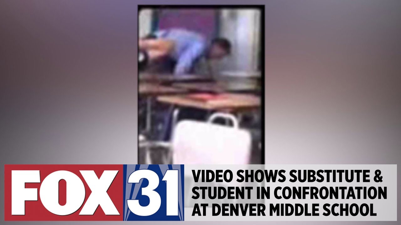 Video shows substitute teacher, student in confrontation at Denver middle school