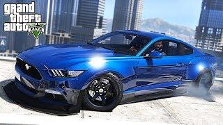 WIDEBODY MUSTANG DRIFT CAR !!! GTA V Drift Session! REAL LIFE CAR MODS