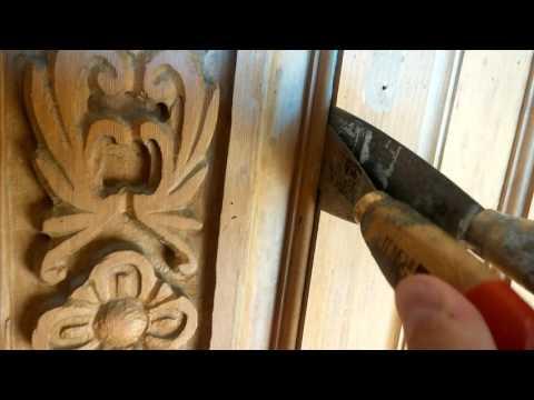 Old door gets glass insert.