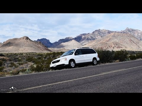 Big Bend National Park   Traveling in a minivan