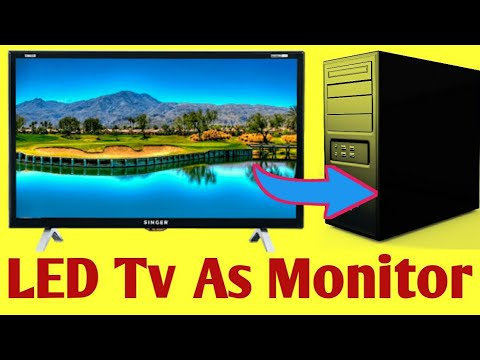 Best Way To Use LED Tv As Pc Monitor | #itechtv