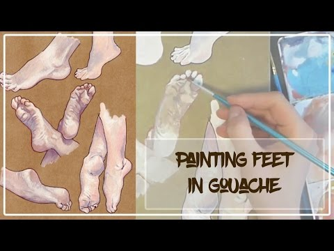How I Paint Caucasian Skin Tones in Gouache