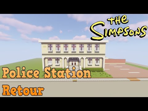 Minecraft Springfield S04: Springfield Police Station Retour!
