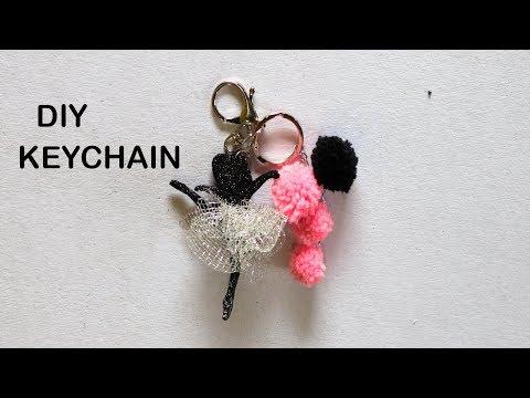 DIY MOST ADORABLE KEYCHAIN  EASY keychain diy  