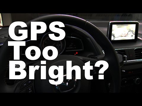 Adjust Car GPS Brightness Based on Headlight Setting