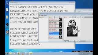 GTA SA: How to install crosshair, radar disc or fist icon