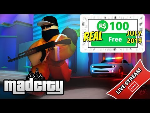 Free Robux Giveaway Mad City 2019 Free Robux In Roblox Game Aafgq