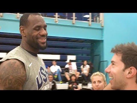 USA Basketball Trick Shot (Feat. Lebron,