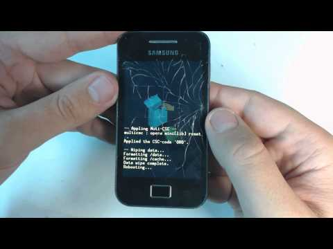Samsung Galaxy Ace S5830 hard reset