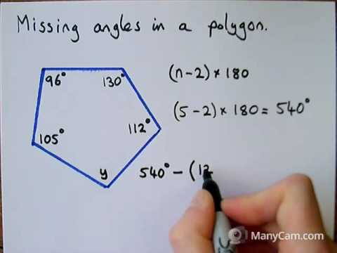 2   Missing Angles in a Polygon
