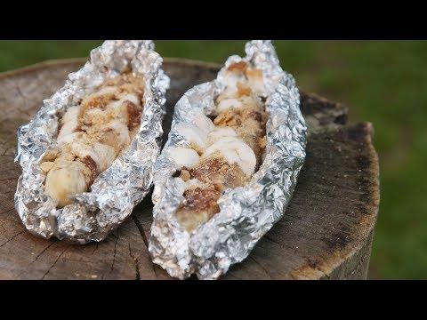 Rolo Stuffed Bananas   Delish