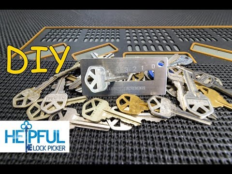 [162] DIY: How To Decode A Key To A Lock By Sight In Minutes! (Basic DIY Locksmithing)
