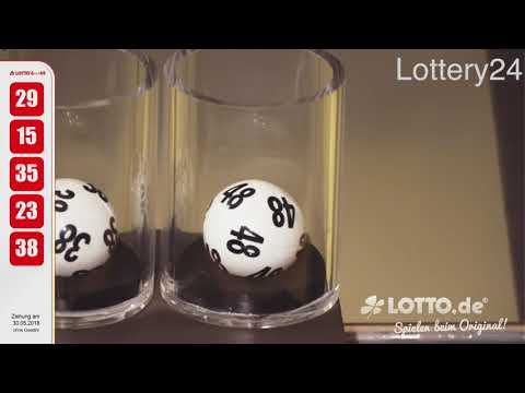 2018 05 30 German lotto 6 aus 49 numbers and draw results
