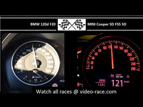 BMW 120d F20 VS. MINI Cooper SD F55 5D - Acceleration 0-100km/h