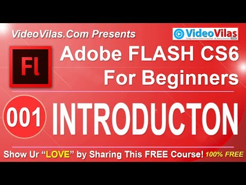 #01 Adobe Flash CS6 Tutorial (Telugu) - Introduction by Adobe Certified Instructor (For Beginners)
