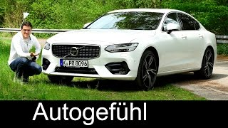 Volvo S90 R-Design FULL REVIEW test 2017 D5 Polestar - Autogefuehl