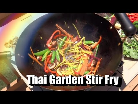 Thai Stir Fry with Sugar Snap Peas, Carrots, Basil and More