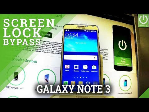 SAMSUNG N900 Galaxy Note 3 Hard Reset / Bypass Screen Lock
