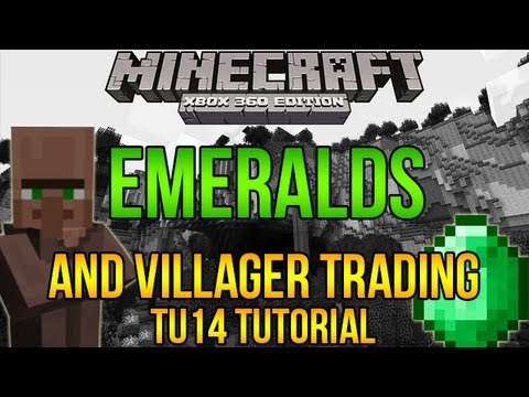 Minecraft Xbox 360 EMERALDS and VILLAGER TRADING Tutorial - TU14 How to Find Emeralds